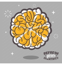 Refresh your creativity human brain view combined vector