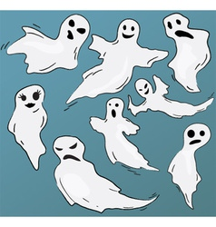 Set of funny ghosts vector image vector image