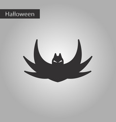 black and white style icon halloween bat vector image vector image