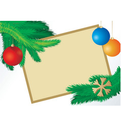 christmas fir picture vector image vector image
