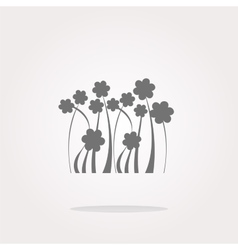 Flower web icon button isolated on white vector image