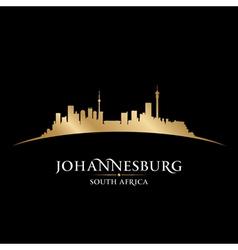 Johannesburg south africa city skyline silhouette vector