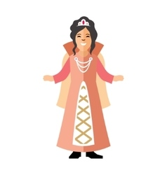 Princess Flat style colorful Cartoon vector image