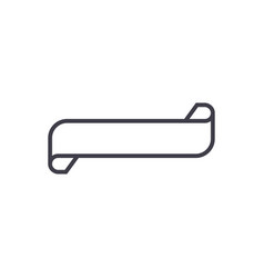 ribbons line icon sign on vector image vector image