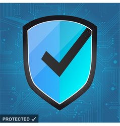 Shield Protection - secure internet vector image