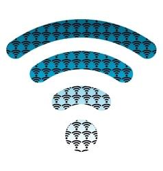 wifi wireless hotspot internet signal symbol icon vector image vector image