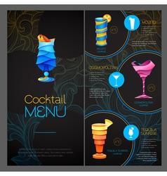 3D cocktail design Cocktail Menu design vector