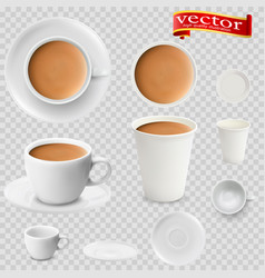 3d realistic cocoa drink coffee vector image