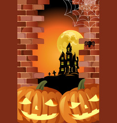 a halloween background design for halloween poster vector image
