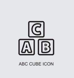 Abc cube icon vector