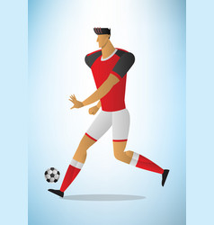 abstract of football player in vector image