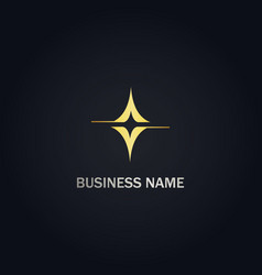 abstract shine business gold logo vector image