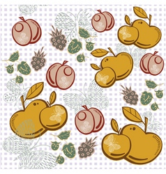 apple berry pattern vector image