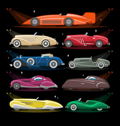 Art deco car retro luxury auto transport vector
