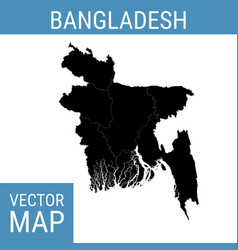 Bangladesh map with title vector