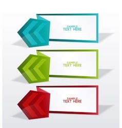 banners with arrows vector image