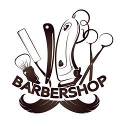 barbershop and hairdresser design vector image