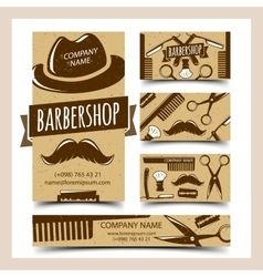 Barbershop cards set vector image