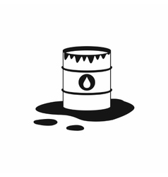 Barrel and oil spill icon icon simple style vector