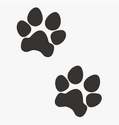 Black paw prints vector