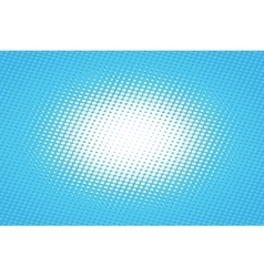 Blue pop art retro background with halftone effect vector
