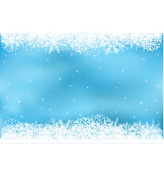 Blue snowflake background vector