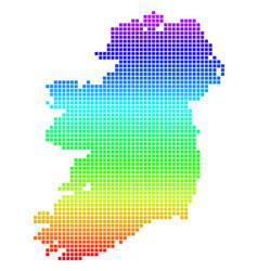 bright dot ireland island map vector image