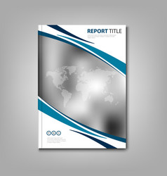 brochures book or flyer with abstract stripes and vector image