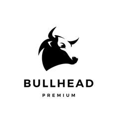 Bull head logo icon vector