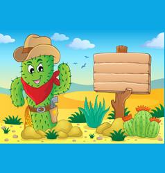 Cactus theme image 5 vector