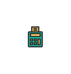 calculator icon design e-commerce icon design vector image