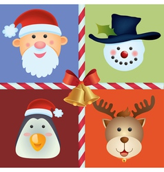 christmas icon ornament vector image vector image