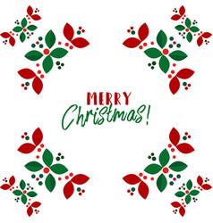 christmas wreath scandinavian flat vector image