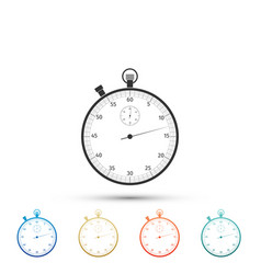 classic stopwatch icon timer icon chronometer vector image
