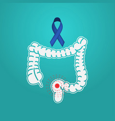 Colon cancer logo icon vector