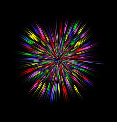 Color blast explosion vector