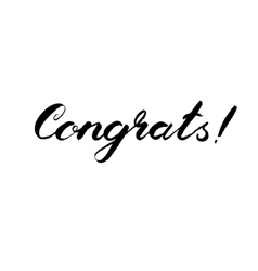 Congrats Brush lettering vector image