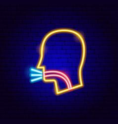 Cough neon sign vector