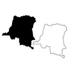 democratic republic of congo map vector image
