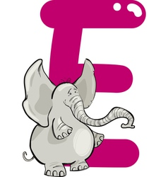 E for elephant vector image