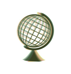 earth globe sign colorful icon shaked vector image