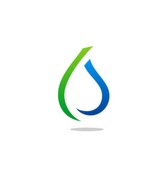 Eco water drop abstract line logo vector