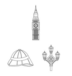 england country outline icons in set collection vector image