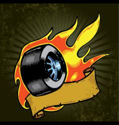Flaming wheel vector