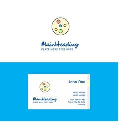 Flat bacteria plate logo and visiting card vector