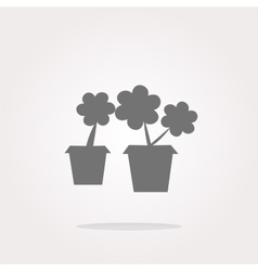 Flowerpot with plant - web icon isolated vector image