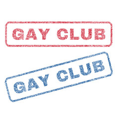 gay club textile stamps vector image vector image