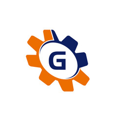 gear initial g vector image