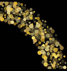 golden glitter confetti on a black background vector image
