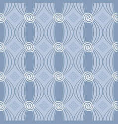 greek spiral seamless pattern vector image